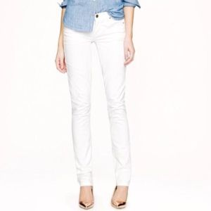 J. Crew Matchstick White Jeans Sz 27